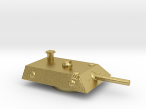 Lion 2 Heavy MSL Grav Tank Turret 15mm in Natural Brass