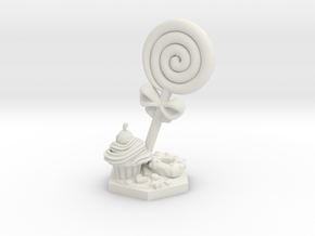 Jester lollipop Spiritual Weapon miniature in White Natural Versatile Plastic