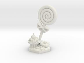 Jester lollipop Spiritual Weapon miniature in White Natural Versatile Plastic