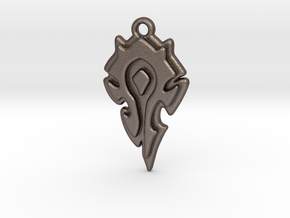 World Of Warcraft Horde Pendant all materials in Polished Bronzed-Silver Steel