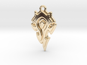 World Of Warcraft Horde Pendant all materials in 14K Yellow Gold