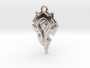 World Of Warcraft Horde Pendant all materials in Rhodium Plated Brass