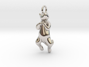 cat_013 in Rhodium Plated Brass
