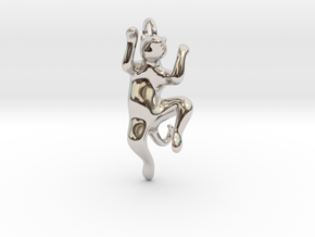 cat_016 in Rhodium Plated Brass