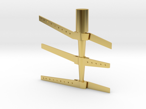 HO Scale rudder 5 in Polished Brass