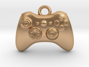 Xbox Controller Pendant necklace all materials in Natural Bronze