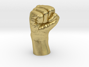 Fist in Natural Brass