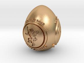 GOT House Lannister Easter Egg in Natural Bronze