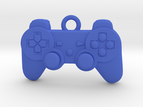 PlayStation Controller Pendant all materials gamer in Blue Processed Versatile Plastic
