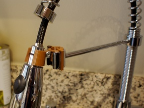 Adjustable Kräus Faucet Mount in Polished Bronze Steel