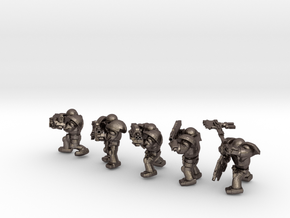 SPACEMARINER SQUAD in Polished Bronzed-Silver Steel