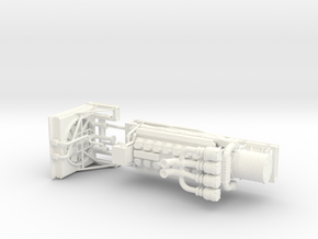 1/64th large V-16 marine or mill machinery engine in White Processed Versatile Plastic