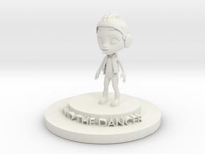 David The Dancer in White Natural Versatile Plastic