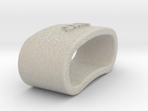 JAVI 3D Napkin Ring with daisy in Natural Sandstone