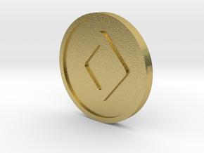 Ingwaz Coin (Elder Futhark) in Natural Brass