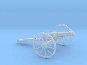 1/48 Scale American Civil War Cannon 10-Pounder in Smooth Fine Detail Plastic