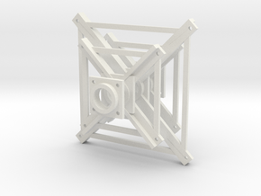 "'N Scale' - 3/32"" Truss Frame in White Natural Versatile Plastic"