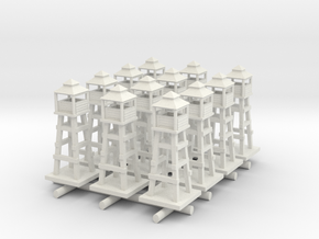 1/285 Airport Tower/Watch tower x12 in White Natural Versatile Plastic