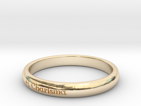 Ring of the Silver Tongue in 14k Gold Plated Brass: 6 / 51.5