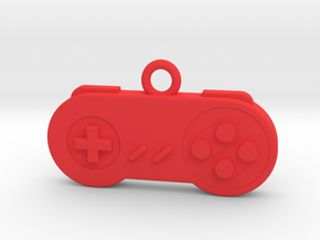 Super Nintendo Controller Pendant all materials ga in Red Processed Versatile Plastic
