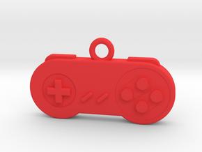 Super Nintendo Controller Pendant all materials ga in Red Processed Versatile Plastic