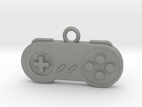 Super Nintendo Controller Pendant all materials ga in Gray PA12