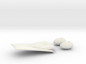 1/1400 USS Ambassador proposal Impulse & Bussards in White Natural Versatile Plastic