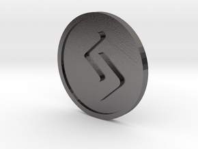 Jeran Coin (Elder Futhark) in Polished Nickel Steel