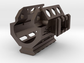 MP5K Vented Tri-Rail RIS Handguard in Polished Bronzed-Silver Steel
