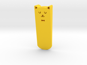 Door stop in Yellow Processed Versatile Plastic