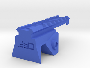 Blasterdizer Top Picatinny Rail (Short) for Stryfe in Blue Processed Versatile Plastic