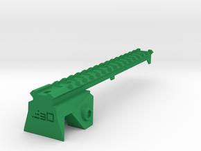 Blasterdizer Top Picatinny Rail (Long) for Stryfe in Green Processed Versatile Plastic