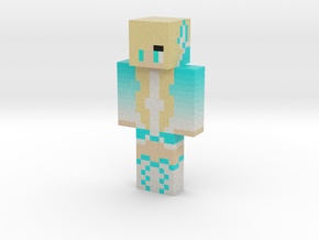 Sporty_wolf_teal | Minecraft toy in Natural Full Color Sandstone
