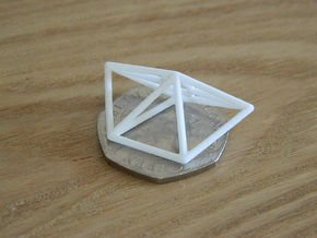 Sidewinder Wireframe 1-600 in White Natural Versatile Plastic