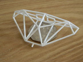 Cobra Mk III Wireframe 1-600 in White Natural Versatile Plastic