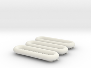 1/87 German rubber boats Wehrmacht in White Natural Versatile Plastic