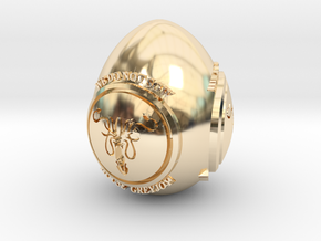 GOT House Greyjoy Easter Egg in 14k Gold Plated Brass