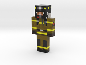 ZeFireFighter | Minecraft toy in Natural Full Color Sandstone
