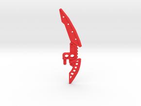 Makuta Sword in Red Processed Versatile Plastic