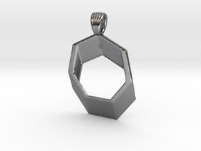 Heptagram [pendant] in Polished Silver