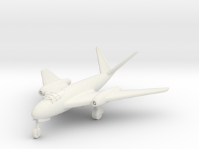 (1:144) Messerschmitt Me P.1101/92 (Gear down) in White Natural Versatile Plastic