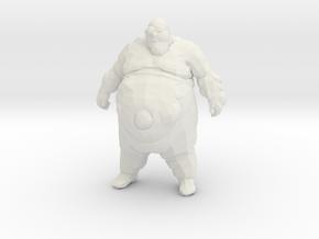 Left4Dead Zombie Boomer 1/60 miniature for games in White Natural Versatile Plastic