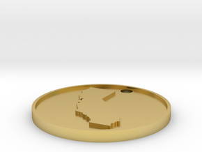 Customizable Coin Tag: California Edition in Polished Brass