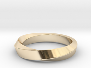 iRiffle Mobius Narrow Ring I(Size 12.5) in 14k Gold Plated Brass