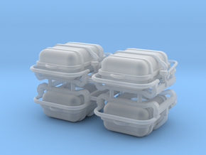 4X Offshore commander Life raft container 8 pers - in Smooth Fine Detail Plastic