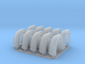 Emperors children Shoulderpads X10 in Smooth Fine Detail Plastic