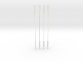 1/32 RN WWII Oars SET x4 in White Natural Versatile Plastic