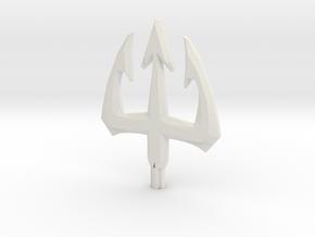 Elemental Trident in White Natural Versatile Plastic