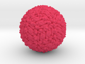 Zika Virus Shell 5IRE in Pink Processed Versatile Plastic: Small