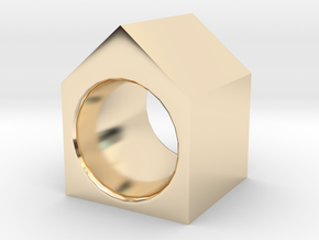 House Ring in 14k Gold Plated Brass